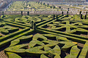 Parterres at Chateau de Villandry, France