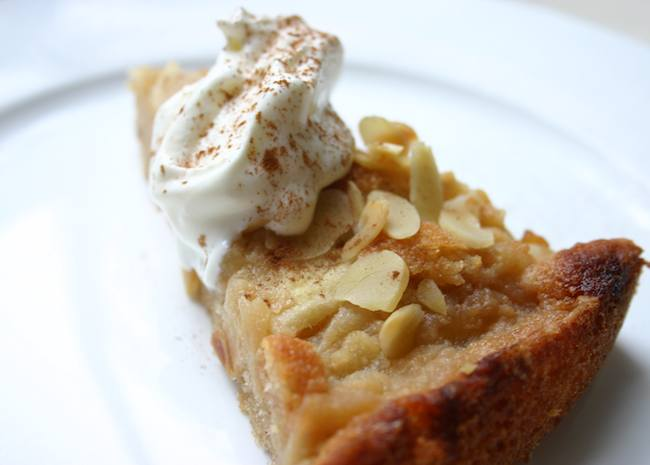 Bramley and Almond Pudding Cake