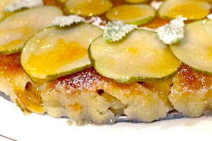 Baked frangipane pears - seasonal and festive!