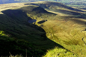 A view near Pen Y Fan in the Brecon Beacons