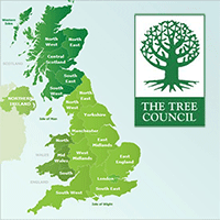The Tree Council events map