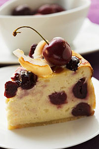Recipe: Morello cherry cheesecake