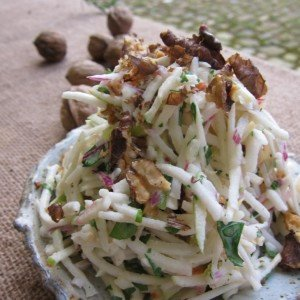 Apple and Celeriac Salad with Walnuts